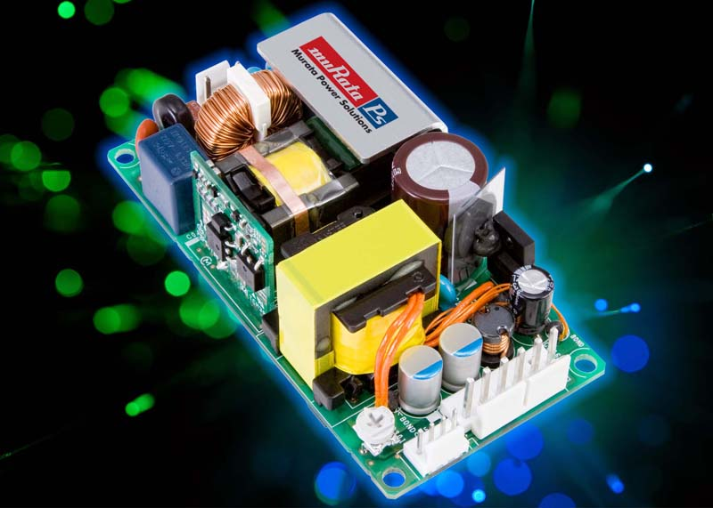 Murata Power Solutions launches highly efficient compact 1U open frame 120 W AC/DC power supply