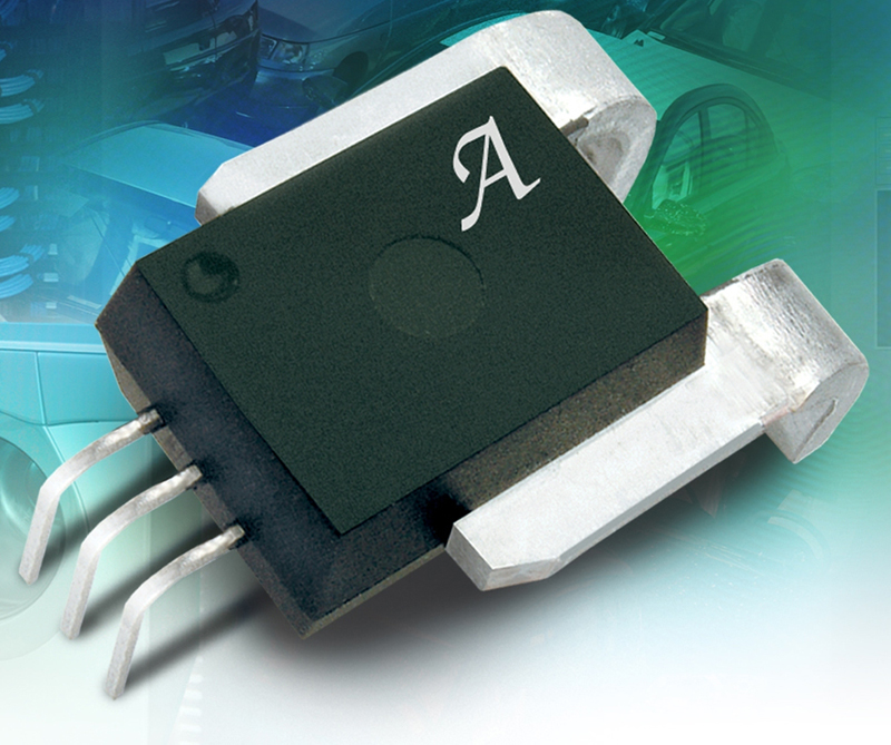 High-current/high-temperature linear Hall-effect current sensor IC is optimised for 3.3 V operation