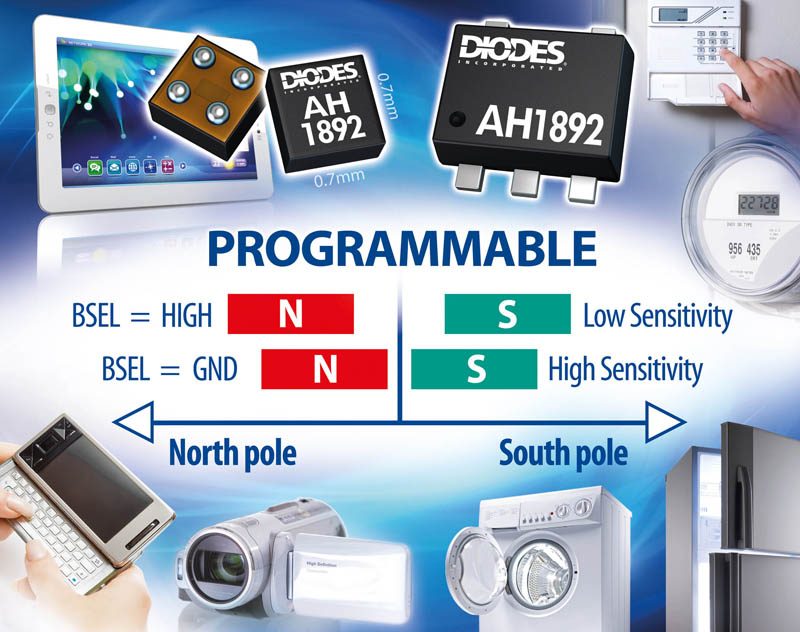 Hall Effect Switch from Diodes Incorporated Aids Portable Product Miniaturization