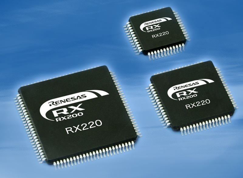 Renesas Electronics Expands Low-Power 32-Bit RX200 Microcontroller Series Offering Scalable Lineup for Portable Consumer and Industrial Devices