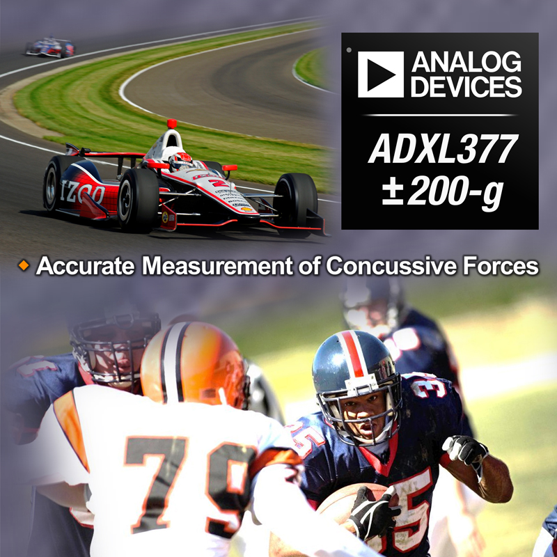 Analog Devices Introduces Industry's First Analog 3-axis, High-g MEMS Accelerometer