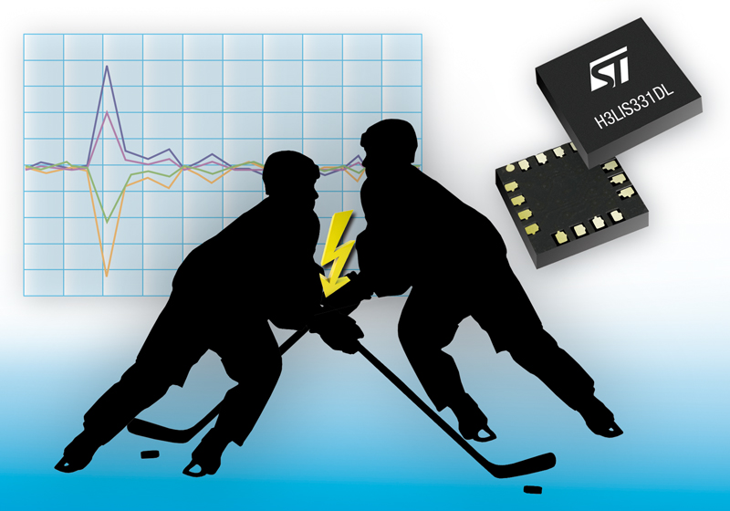Industry-Unique Sensors from STMicroelectronics Enable High-Shock Detection in Black Boxes and Hockey Helmets