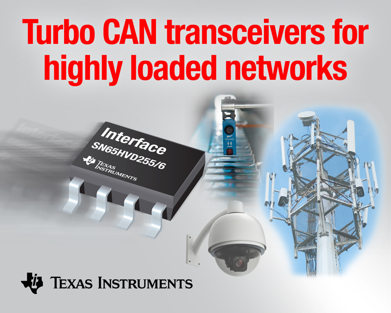 TI speeds data rates in highly-loaded CAN networks with new transceivers