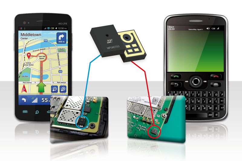 STMicroelectronics Delivers MEMS Microphones in Plastic for Sleeker and Sturdier Gadget Designs