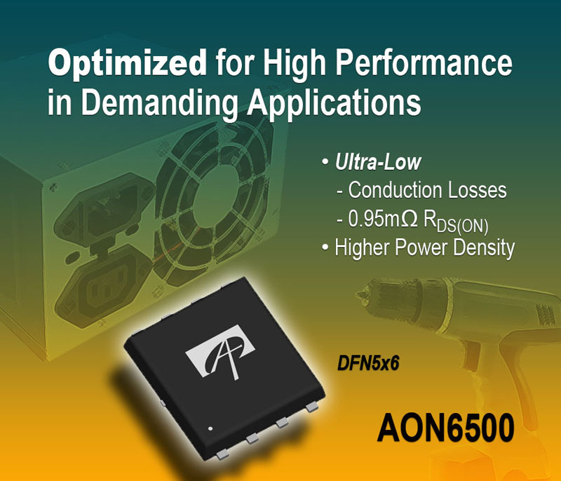 Alpha and Omega Semiconductor's New 30V Power MOSFET Slashes Conduction Losses