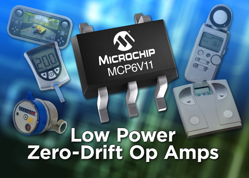 Microchip expands zero-drift operational amplifier portfolio for signal conditioning, instrumentation and portable sensor applications