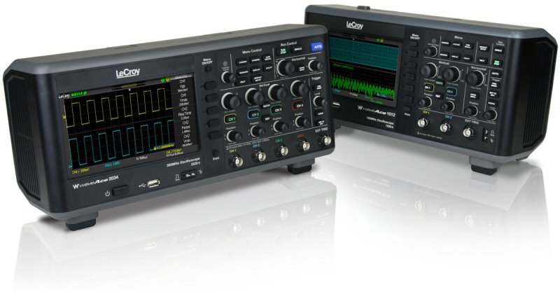 LeCroy introduces WaveAce oscilloscopes with long memory, high sample rate, and large display
