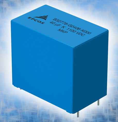 EPCOS MKP DC link high density film capacitors from TDK Feature new rated voltages