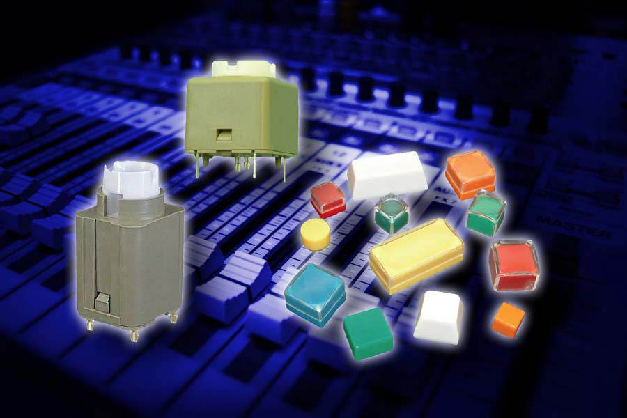 Luso offers highly-reliable Veetronix switches and keycaps for broadcast applications