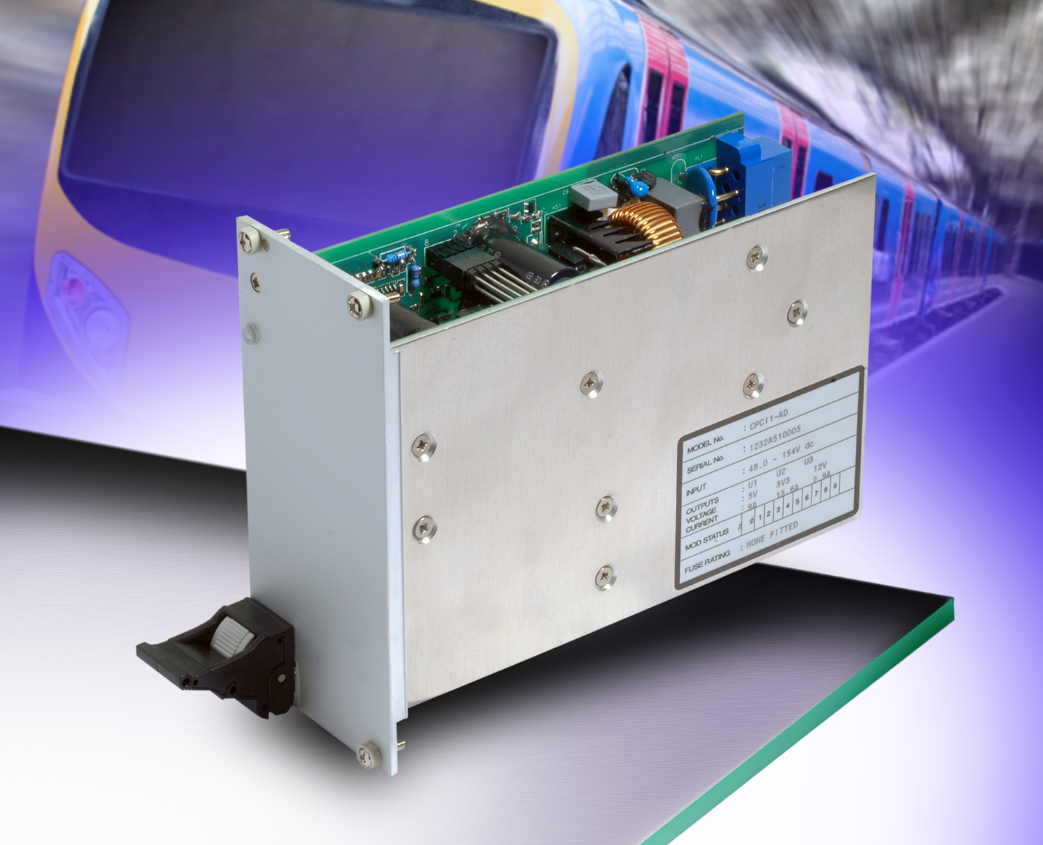 Martek Power offers compact PCI power supply for on-board rail use