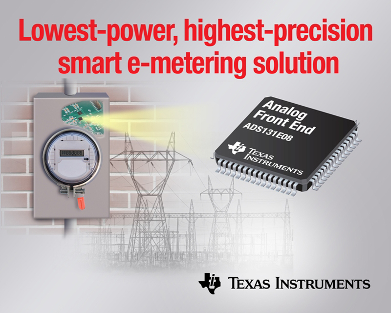 TI provides low-power, high-precision smart e-metering AFEs