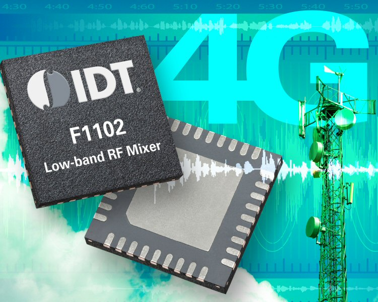 IDT low-band RF mixer reduces IM3 for 4G LTE, 3G, and 2G systems