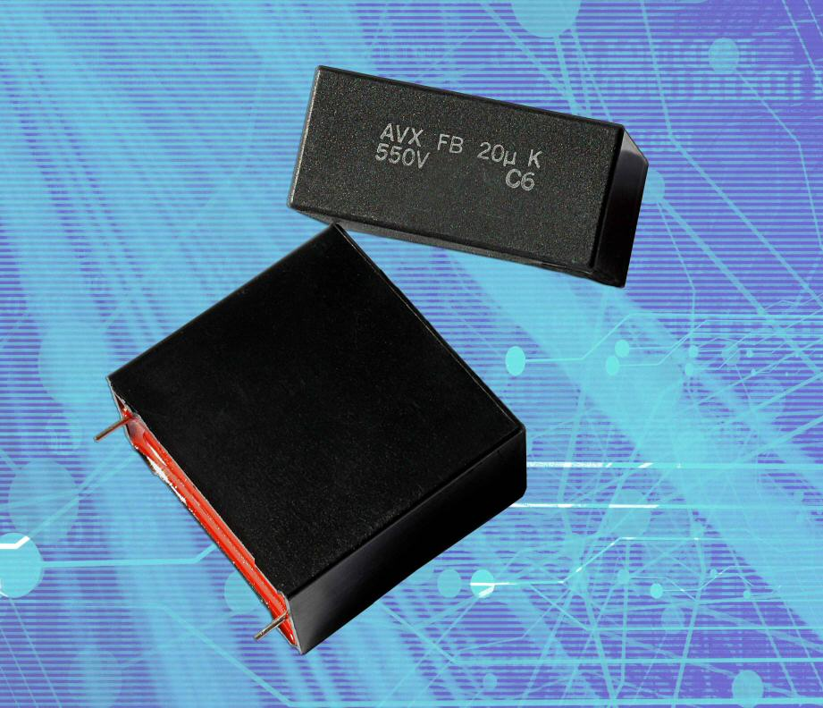 AVX introduces new DC-link film capacitor series for power-supply and inverter applications