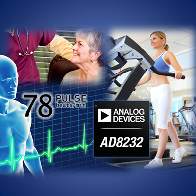 Analog Devices offer AD8232 power-saving heart-rate-monitor AFE