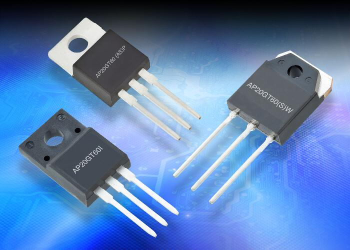 New Advanced Power Electronics high-speed 600-V discrete IGBTs feature low saturation voltage