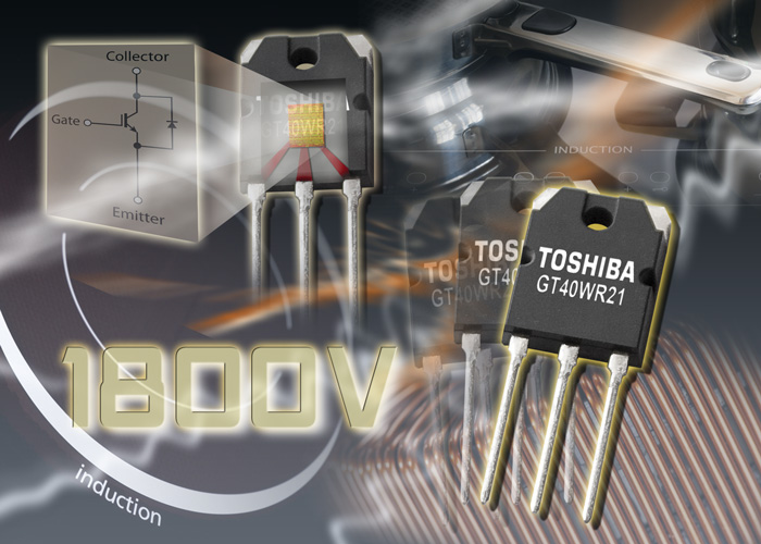 Toshiba offers 1800 V RC-IGBT with monolithic integrated diode