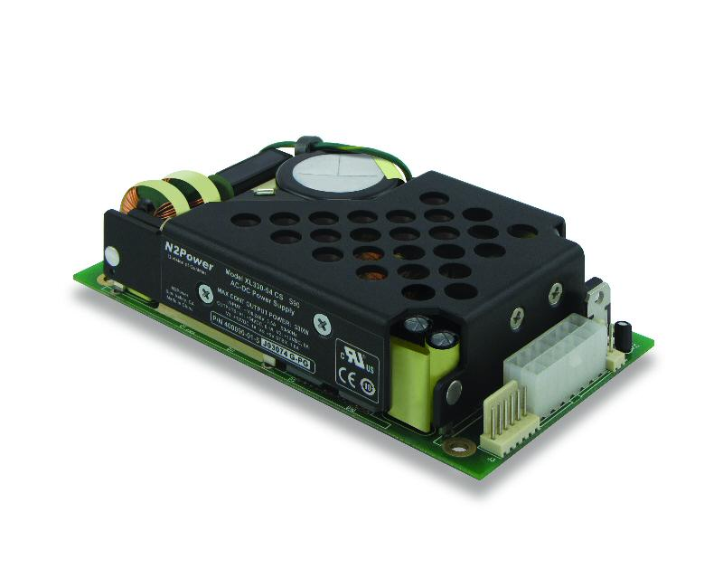 N2Power's 330 W AC-DC power supply achieves 15 W/in<sup>3</sup> power density and up to 90% efficiency