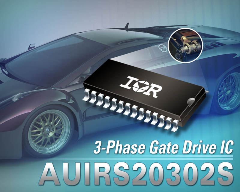 IR Introduces Robust AUIRS20302S 3-Phase Gate Drive IC for Automotive Applications