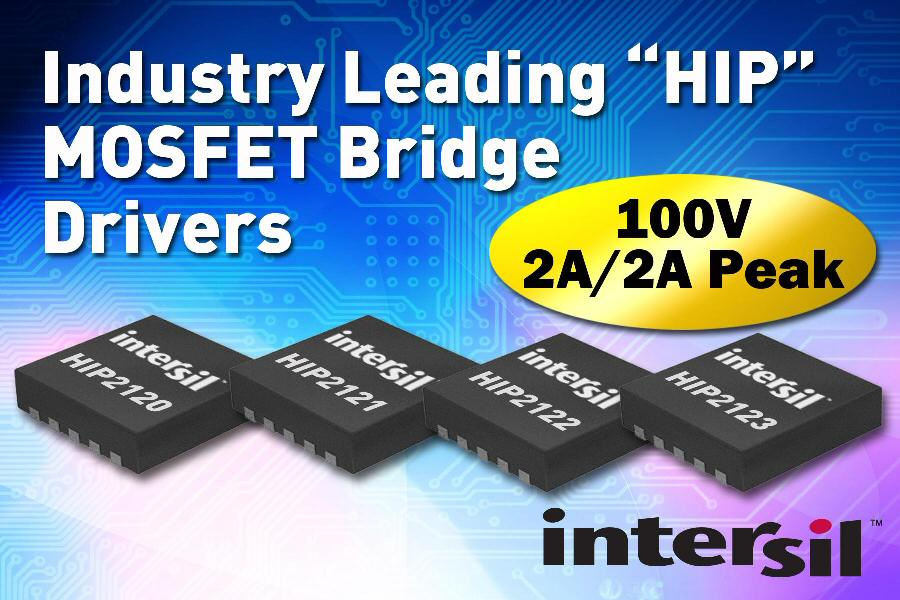 Intersil expands <i>HIP</i> bridge-driver portfolio