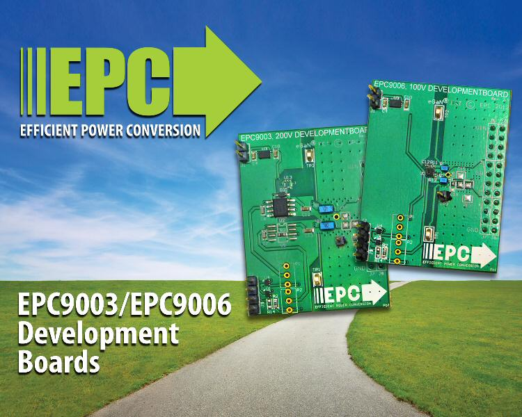 EPC upgrades development boards with enhancement-mode eGaN FETs using dedicated drivers from TI