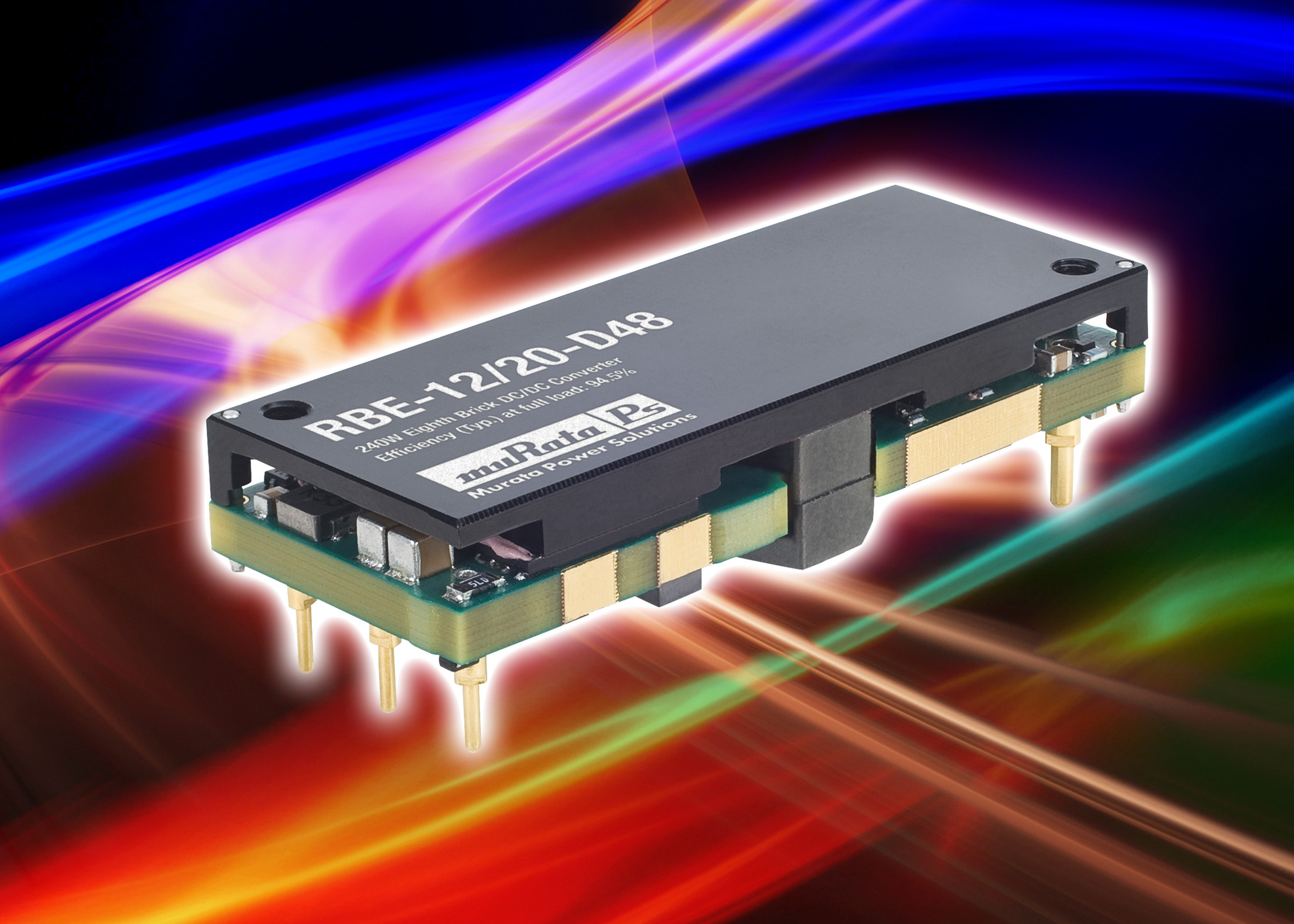 Murata eighth-brick 240-W DC-DC converter achieves 94.5% efficiency