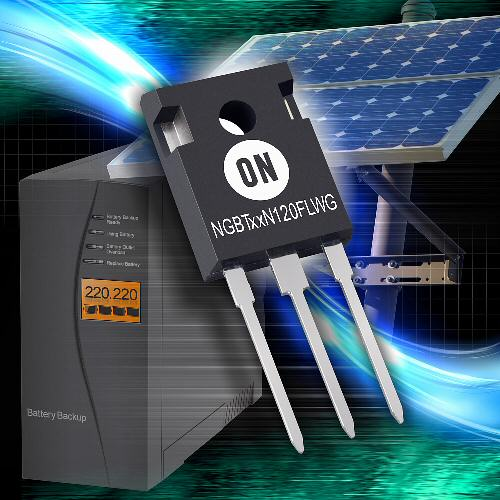 ON Semiconductor expands high-performance trench field-stop IGBT portfolio for motor control, solar, and UPS