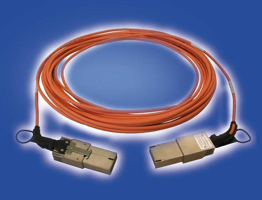 FCI adds CXP option to XLerate-series active optical cables