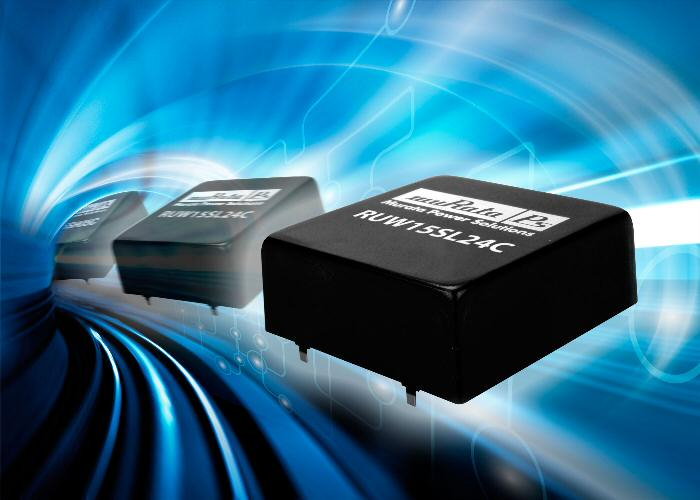 Murata introduces 15-W DC-DC converter with 16- to 160-V DC input range