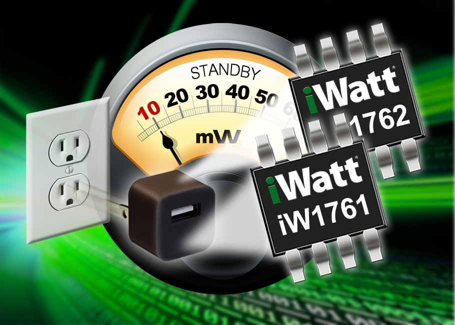 iWatt digital PWM controllers offer ultra-low 12W - 24W standby power supplies