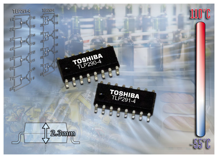 Toshiba announces quad-channel transistor-output photocouplers