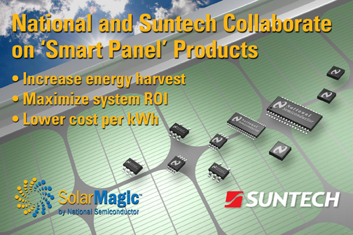 National Semiconductor and Suntech Collaborate to Develop �Smart Panel' Technology