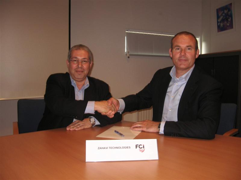 FCI Electronics and Zahavi Technologies sign agent agreement for Israel