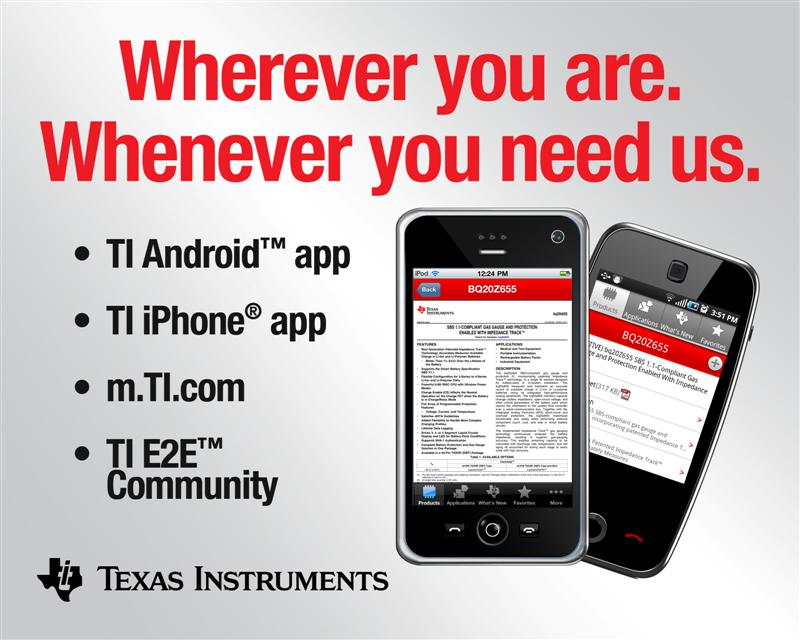TI announces mobile app for iPhone and Android users