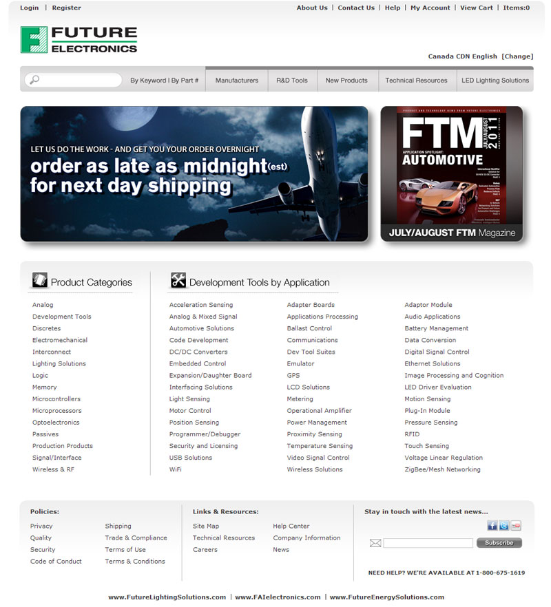 Future Electronics Launches Newly Designed Website with Enhanced Search Functionality