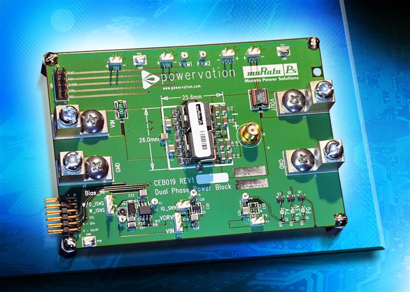 Murata Power Solutions and Powervation Team Up for New Digital Reference Design Using the Industry's Highest Power Density Power Block