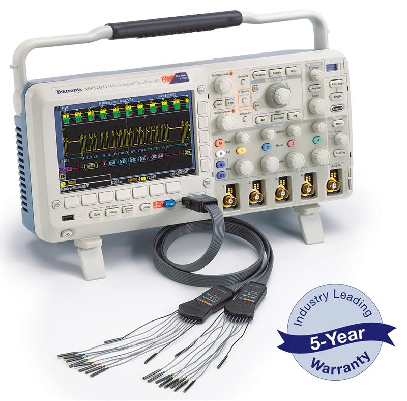 RS Components offers exclusive free warranty on range of Tektronix oscilloscopes