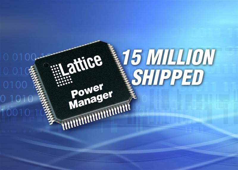 Lattice Ships 15 Million Power Manager Devices