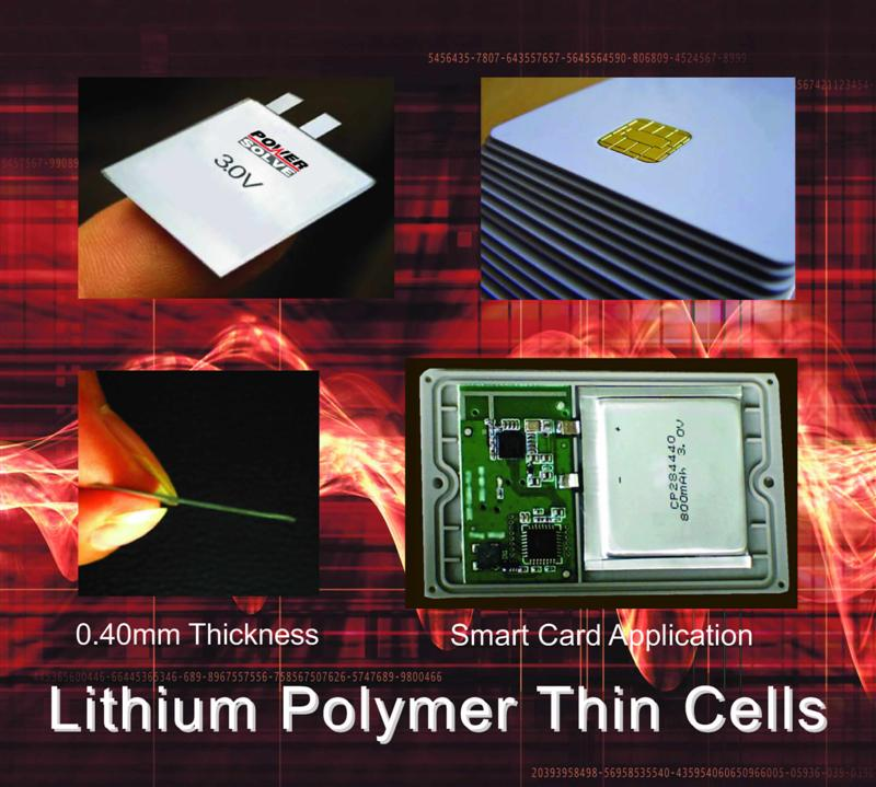 Powersolve Announces Very Thin Lithium Polymer Primary Cells  Can Be Produced Down to 0.4mm