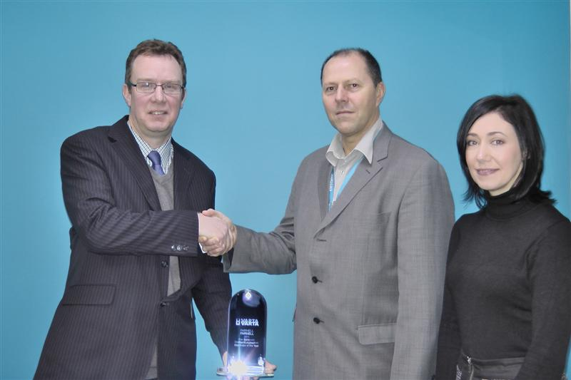 Farnell receives European Distributor of the Year award from VARTA Microbattery GmbH