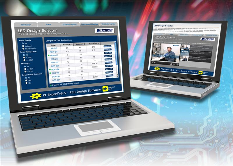 Power Integrations Launches Convenient Online Selection Tool for LED Driver Reference Designs