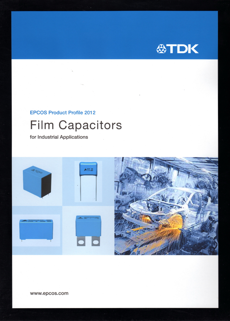 TDK Brochure Features EPCOS Film Capacitors for Industrial Applications