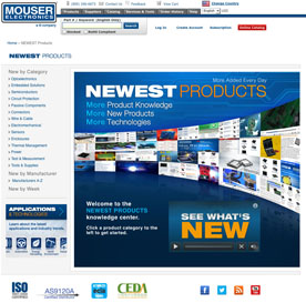 Mouser launches two new websites