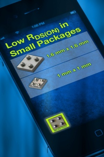 Chipscale MOSFETs boast Industry-Low RDS(on) of 20m? at 4.5V