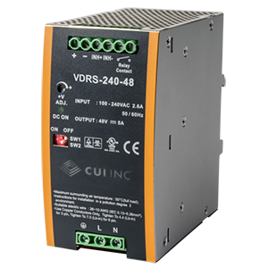 DIN rail ac-dc supplies serve higher-power industrial applications