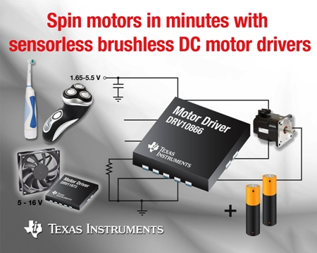 Sensorless, brushless DC motor drivers spin motors in minutes