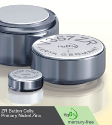 Nickel-zinc batteries are mercury free