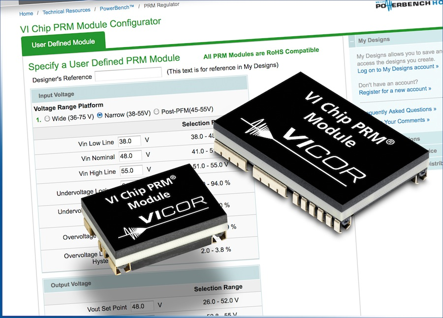 Vicor introduces user-defined, high-performance VI Chip PRM Modules at APEC 2013