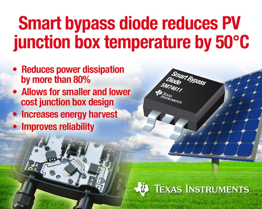 Smart bypass diode claims industry's lowest power dissipation
