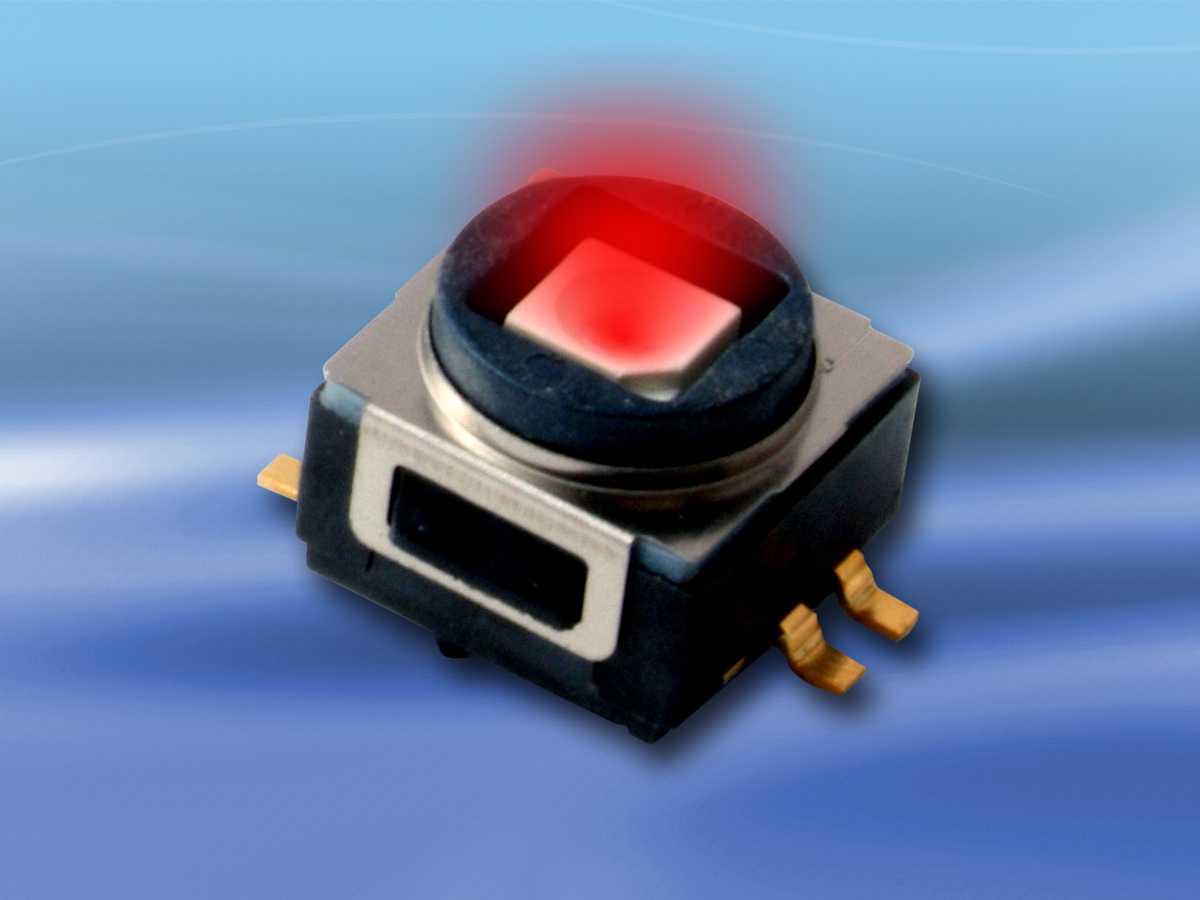 Rugged illuminated SMT switch provides tactile feedback