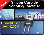 Ten-amp, 1200V Silicon Carbide Schottky Rectifier offers improved high-temperature performance